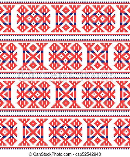 Sami, arte, escandinavo, laponia, seamless, patrón, vector, punto de ...