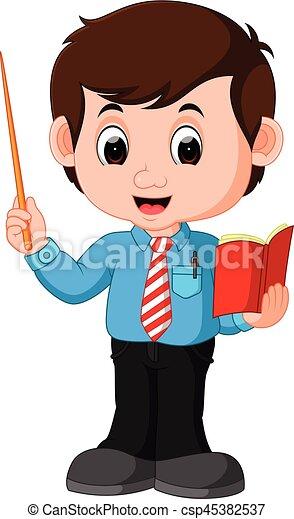 samiec, rysunek, nauczyciel - csp45382537