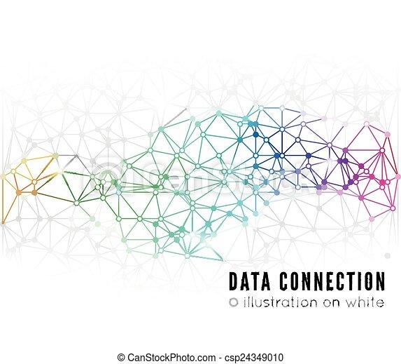 sammenhænge, abstrakt, netværk - csp24349010