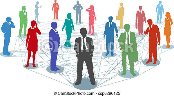 sammenhængee, folk, netværk, firma, forbinde - csp6296125