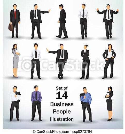 Ansammlung von Geschäftsleuten - csp8273794