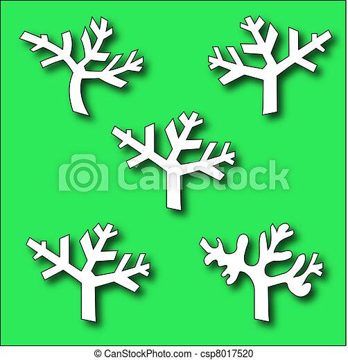 Eine Sammlung von Astbäumen - csp8017520