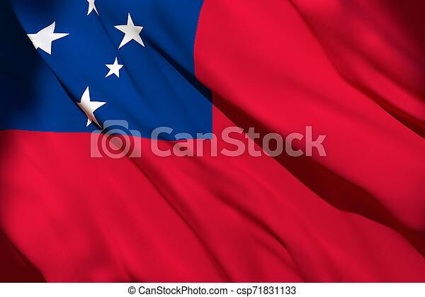 Samoa flag waving - csp71831133