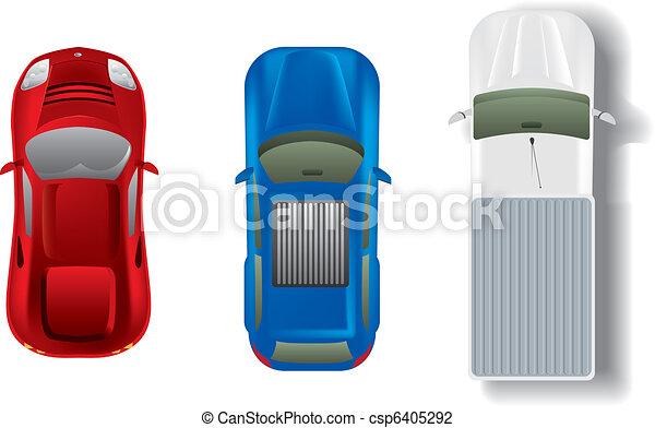 samochody, górny, komplet, różny, prospekt - csp6405292