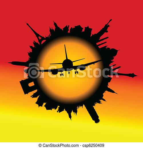 samolot, środek - csp6250409
