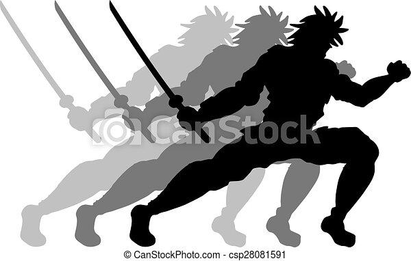 samouraï, mouvement - csp28081591