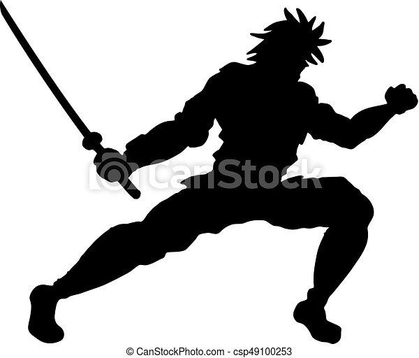 samouraï, ombre - csp49100253