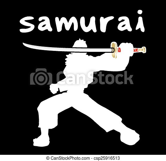 samouraï, ombre - csp25916513