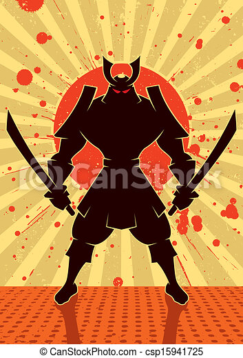 samouraï, ombre - csp15941725