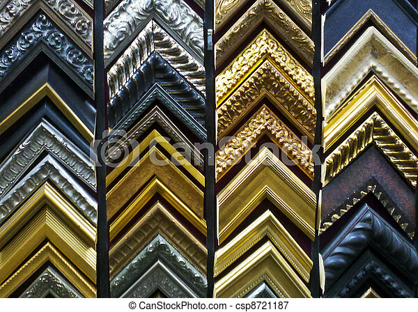 Sample Corners Of Wooden Or Moulded Picture Frames