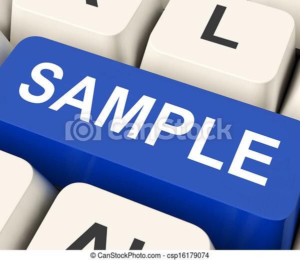sample key means trial or sampling csp16179074