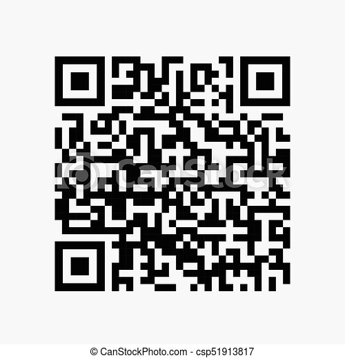 sample qr code for smartphone scanning icon csp51913817