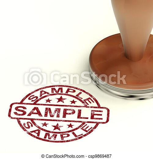 Sample Stamp Showing Example Symbol Or Taste - csp9869487
