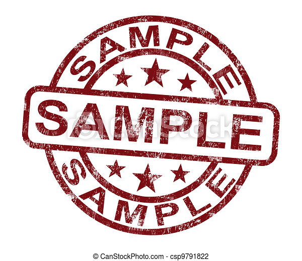Sample Stamp Shows Example Symbol Or Taste - csp9791822
