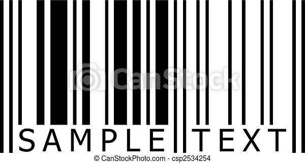 sample text barcode vector