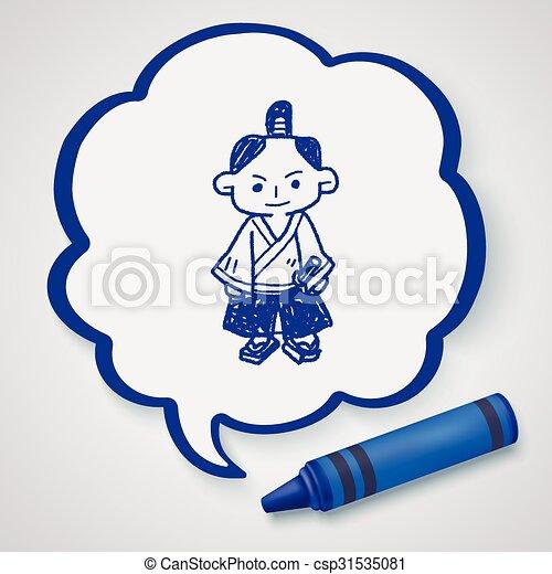 Samurai Doodle - csp31535081