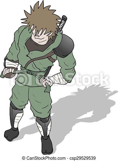 Ilustración de guerreros samurai - csp29529539