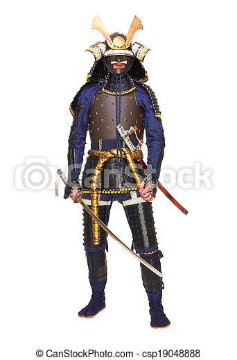 Samurai in armor - csp19048888