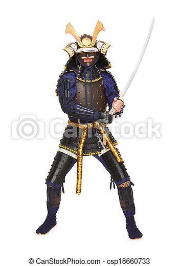 Samurai in armor - csp18660733