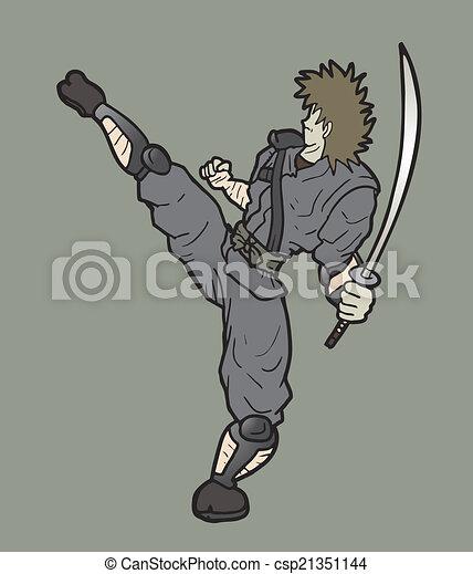 samurai, punch - csp21351144