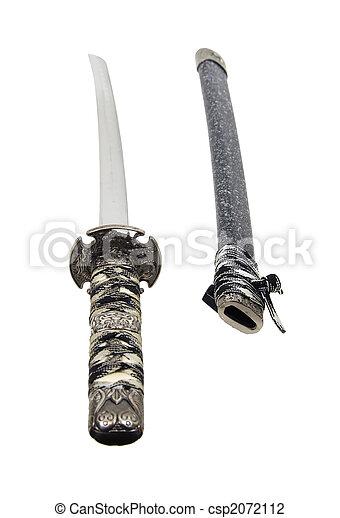 Samurai sword and scabbard - csp2072112