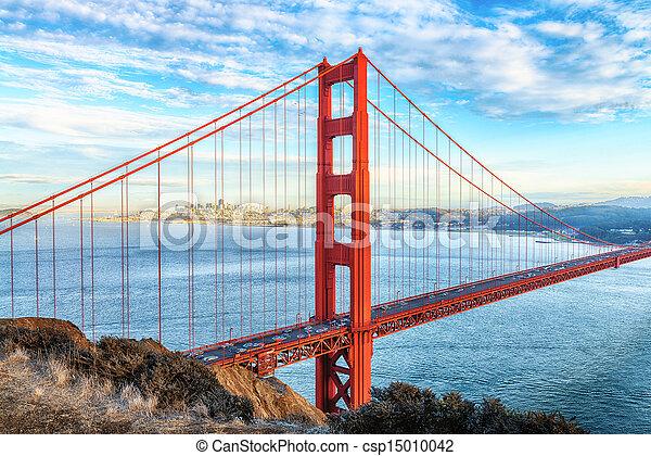san, cancello, dorato, francisco, ponte - csp15010042