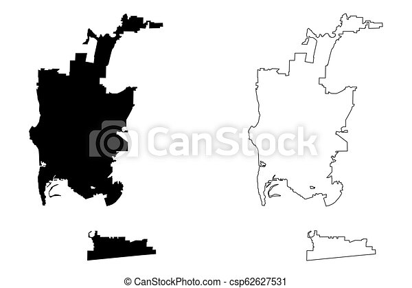 San diego city map. San diego city ( united states cities, united ...
