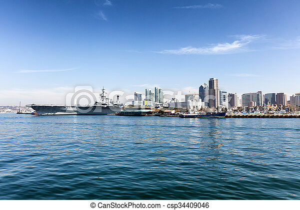 San Diego Skyline From The Ocean