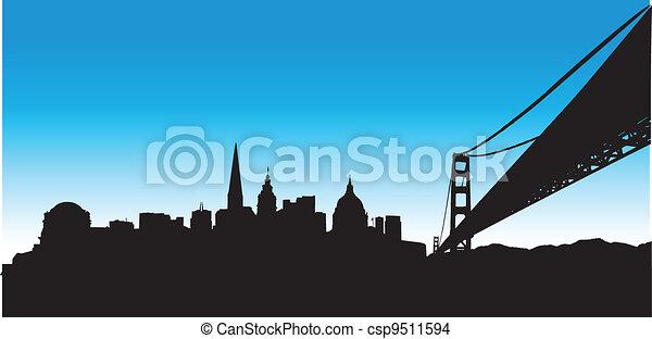 San Francisco Blue Skyline - csp9511594
