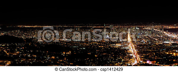 San Francisco by night - csp1412429