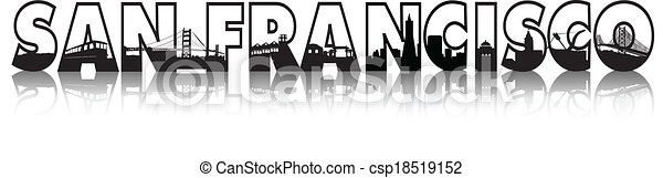 San Francisco City Skyline - csp18519152