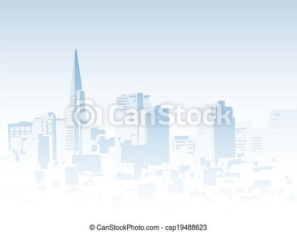 San Francisco Fog - csp19488623