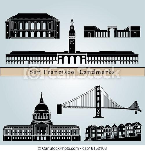 San Francisco landmarks and monuments - csp16152103