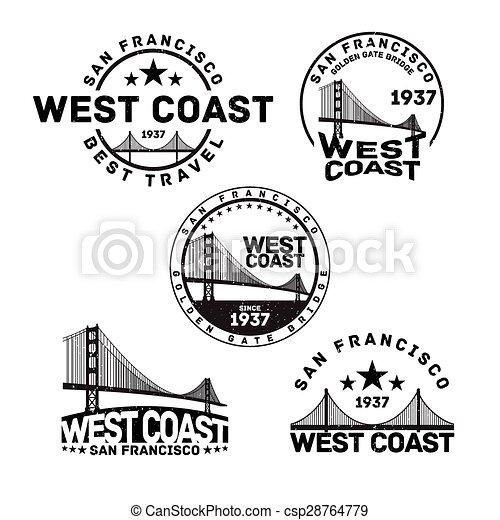 San Francisco Logo Stamp - csp28764779