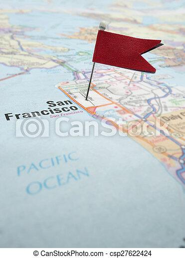 San Francisco map - csp27622424