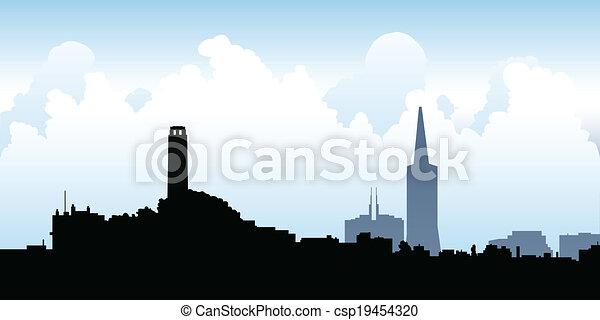 san francisco skyline cartoon skyline silhouette of the city of san