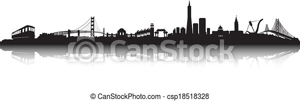 San Francisco Skyline vector  - csp18518328