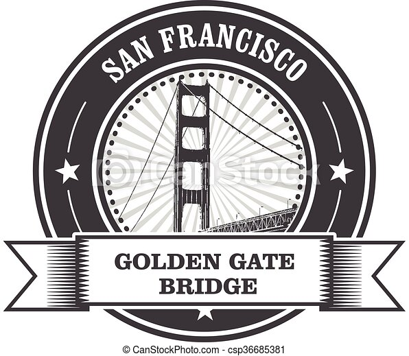 San Francisco symbol - Golden Gate  - csp36685381