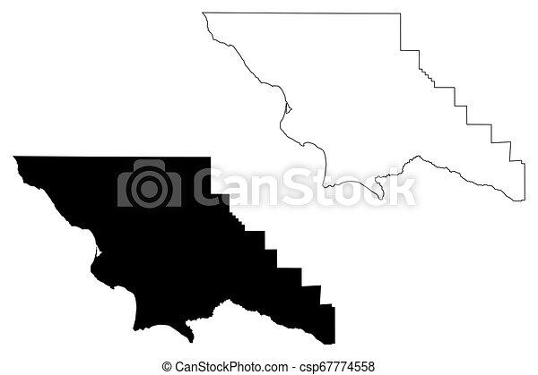 Counties In California Map.San Luis Obispo County California Map Vector
