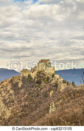 San Michele Sacra Abbey, Piamonte, Italy - csp63213105