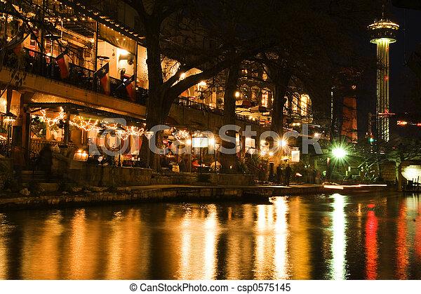 San Antonio Riverwal - csp0575145