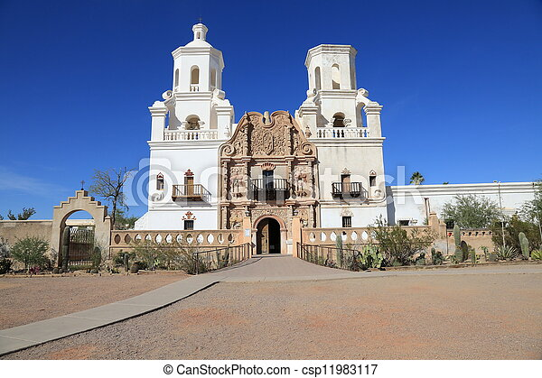 San Xavier del Bac Mission Church - csp11983117