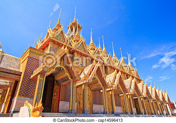 Sanctuary Church in temple thailand - csp14596413