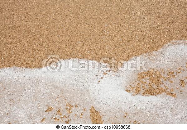 Sand beach water background - csp10958668