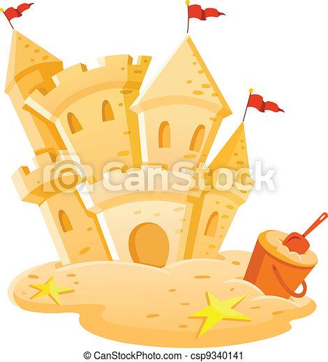 Sand castle - csp9340141
