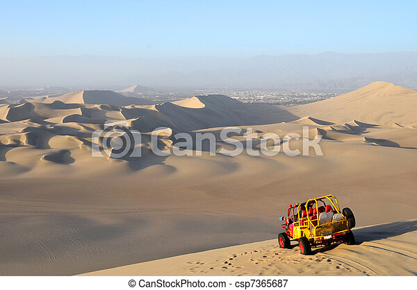 Sand Dessert with Dune Buggy - csp7365687