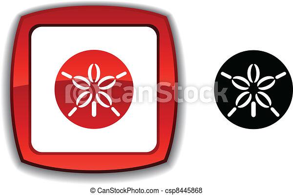 Sand dollar button. - csp8445868