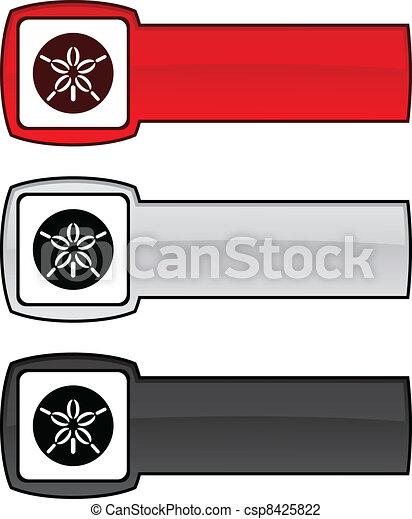 Sand dollar button. - csp8425822