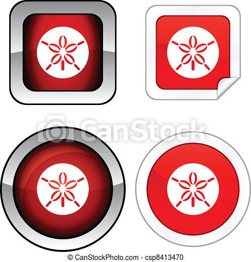 Sand dollar button set. - csp8413470