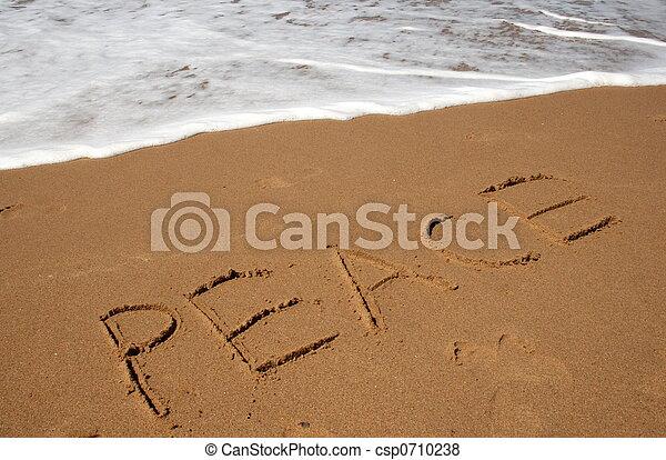 sand, frieden - csp0710238